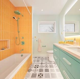designer bathroom finishes cost