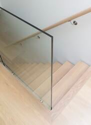 clear floating stairs home design